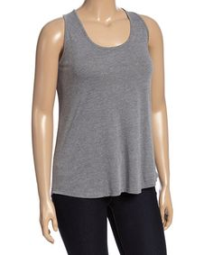 Another great find on #zulily! Light Heather Gray Tank - Plus #zulilyfinds