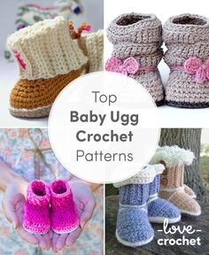 As the weather cools, and you creep back into your cosy, snuggly UGG boots, why not crochet a pair for baby to match? Mia Slouch Boots by Two Girls Pattern