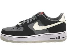Nike Air Force 1 LE (GS) Youth Basketball Shoes (Black/LQD Lime-NN Gry-Slr Rd) 4 Nike. $64.95