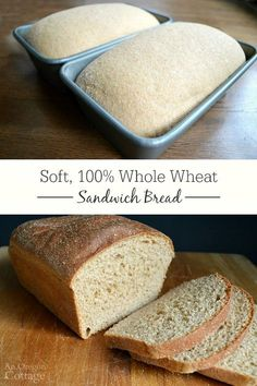 Easy, Soft 100 Whole Wheat Sandwich Bread recipe - the bread that will finally free you from store-bought bread forever! #breadrecipessandwich