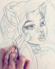 """""""A sneak peek at something new ✨ #wip  #graphicartery #artshare #artwork #myart…"""