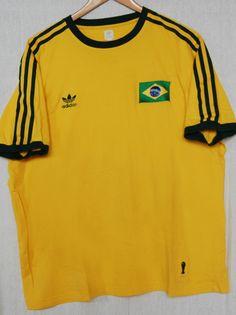 Adidas originals brésil brasil shirt fifa 1974 vintage football jeux olympiques…