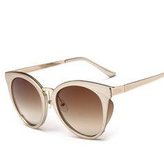 b6e7cfd86a862 VWKTUUN Óculos De Sol Das Mulheres Rodada Óculos de Sol Óculos de Designer  de Marca Famosa Coreano Espelho De Óculos de sol Óculos Oversized Óculos de  Sol ...