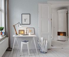 """Papier peint """"Kube"""" en dégradé émeraude - Collection Au fil des Couleurs panoramiques - #deco #bureau #design"""
