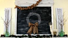 Such a fun mantel that can be updated on a whim. #holiday #decorating