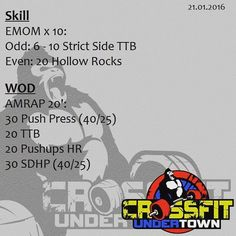 #wod #cftundertown #crossfit #workout #conditioning #gymnastics #weightlifing…