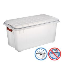 Our Clear Watertight Trunk has a reinforced base and lid to ensure that your storage stacks up higher than the rest!
