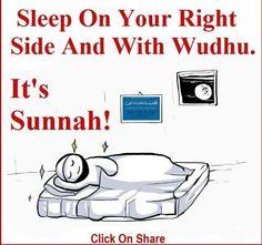 Sunnah, i always fall asleep on my right!