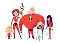 The #Incredibles #Illustration Design