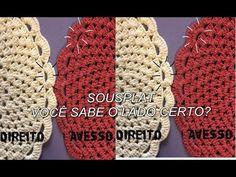 Sousplat de crochê - Lado Correto - YouTube
