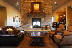 Floor to Ceiling Stone Fireplace Gather Area Great for Parties--Retreat at Jordanelle Park City, UT Homes starting at $330,000