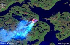 Satellite images show a fire in west Greenland has been burning for more than a week