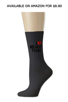 7d8b3eb1f Women High Ankle Cotton Crew Socks I Love Muay Thai Casual Sport Stocking ◇  AVAILABLE ON