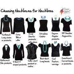 Choosing Necklaces for Necklines. Now just to organize the jewelry box to make necklaces more accessible by MyohoDane