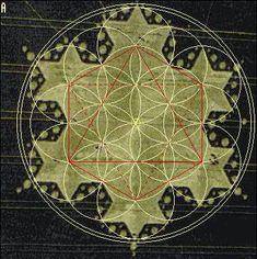"""Este símbolo geométrico acima é conhecido desde a mais remota antiguidade e chama-se """"A Flor da Vida"""". Na verdade, segundo foi revelado, o símbolo da Flor da Vida é bem conhecido em todo o universo…"""