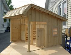 horse stable. Just scale it up and it would be perfect!