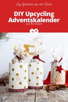 DIY Upcycling Adventskalender | Geschenk aus der Küche| Koch mit Herz Diy Recycling, Merry Christmas, Kindergarten, Gift Wrapping, Gifts, Advent Season, Christmas Time, Kitchen Cook, Advent Calendar Gifts