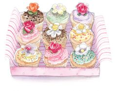 Cakes Greetings Card from Phoenix Trading. Cards from £1.75 per card or £1.40 when buying 10 or more