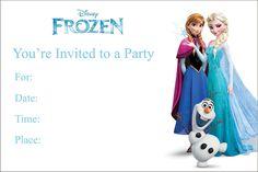Image for Free Blank Printable Frozen Birthday Invitations UK