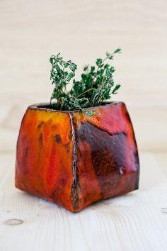 Vase bunt orange rot von BogArtKunst auf Etsy