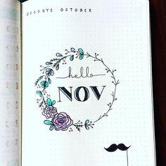 Hello November! #bulletjournal #bujo #november #planner #planneraddict #doodle #watercolor
