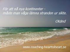 Coaching - nå nya kontinenter