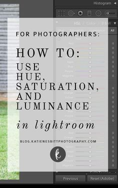 How to use the HSL Sliders in Lightroom for Wedding photographers #WeddingPhotographers