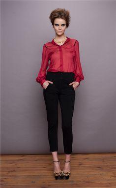 www.blessus.com  Silk Shirt & Cigarette Trousers