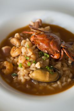 Receta de Arroz caldoso con cangrejos