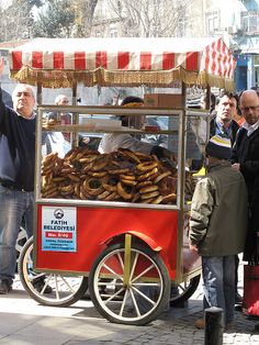 Simit in Istanbul...better than bagels!