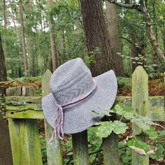 Ladies dusty pink and grey hat band Womens pink and by OnePurlRow
