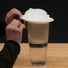 Create a Cloud in a Jar and watch the air currents as hot air rises, cools and then sinks. | Steve Spangler Science