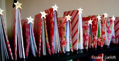 What a great idea from Reading Confetti to make a book tree advent during the month of Dec. Plan ahead and use some books from the library. And love the blog!
