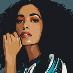 Solange | Art by Samona Lena info@scaredofmonsters.com http://scaredofmonsters.com http://instagram.com/ho3sz http://www.scaredofmonsters.tumblr.com/ https://society6.com/scaredofmonsters http://nabaroo.com/Samona/nabs