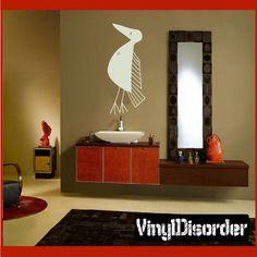 African Art Bird Wall Decal - Vinyl Decal - Car Decal - AL014