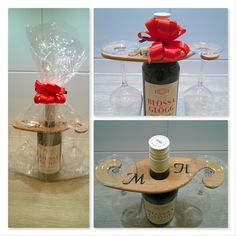 AI / Wine class holder personalized with initials.