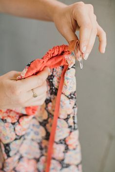 Instructions: Sewing a travel lingerie bag.  Rue Magazine (June 2012 Issue).  Photography by The Way We Love.