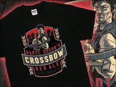 Daryl Dixon Crossbow Red Ale T-Shirt - A tshirtbordello.com original  http://www.tshirtbordello.com/Daryl-Dixons-Crossbow-Red-Ale-T-Shirt  #tshirtbordello #zombie #horror #daryldixon