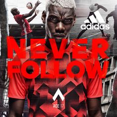This advertisement has the 'headline' element as the headline of this adidas series is shown in a bright colour and a font which is largest as compared to the other wordings, therefore most attention will be drawn to the headline.
