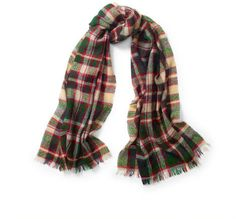 Polo Ralph Lauren Lightly Frayed Plaid Scarf