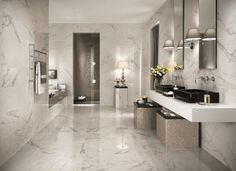 Image result for large marble tiles walls and flooring bathroom
