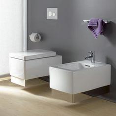 Kludi PLUS wall-mounted, washdown toilet L: 56 W: 37 cm