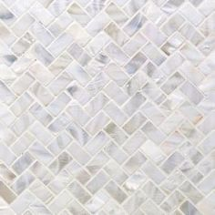Ivy Hill Tile Pacif White Herringbone in. x 2 mm Pearl Shell Mosaic Tile Marble Mosaic, Stone Mosaic, Mosaic Wall, Mosaic Glass, Mosaic Tiles, Honed Marble, Wall Tile, Blue Mosaic, Ceiling Tiles
