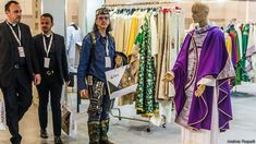 Every two years, the Italian town of Vicenza holds the biggest religious fair in the world, with haute couture for priests and vast arrays of devotional items on sale. Fair Trade, Bbc, Kimono Top, Celestial, Tops, Women, Fashion, Italia, Haute Couture