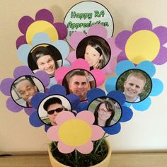 RA Appreciation Flower Bouquet - How hilarious would this be to put in the lobby but also let the students know to appreciate the reslife staff?