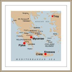 Bronze Age Mycenae Pylos Knossos Troy
