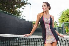 Tennis Dress by Denise Cronwall, Denise Cronwall Activewear Jewel Collection, #activewear, #tennis, #fitness, #workout, #apparel, #style, #fashion, #unique, #boutique, #training, #pants, #bra, #top, #designer, #skirt, #athleisure