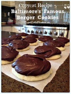 Baltimore's Famous Berger Cookies are so amazing!! Just look at that rich fudgy icing!!