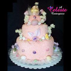 Towel Cakes by Celeste Towel Cake Centerpieces Wedding Bridal Showers ...