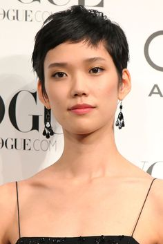Tao Okamoto:   Pixie Cut asian hair